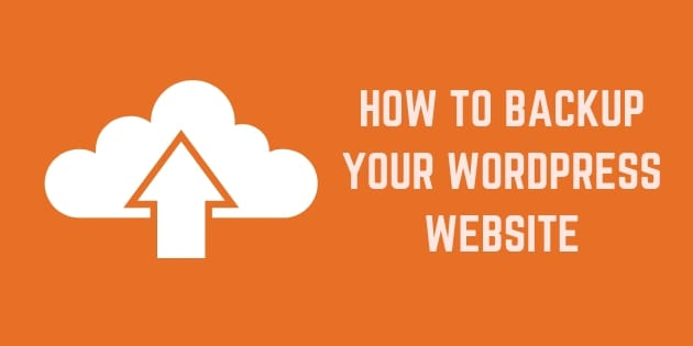 how to backup your wordpress site