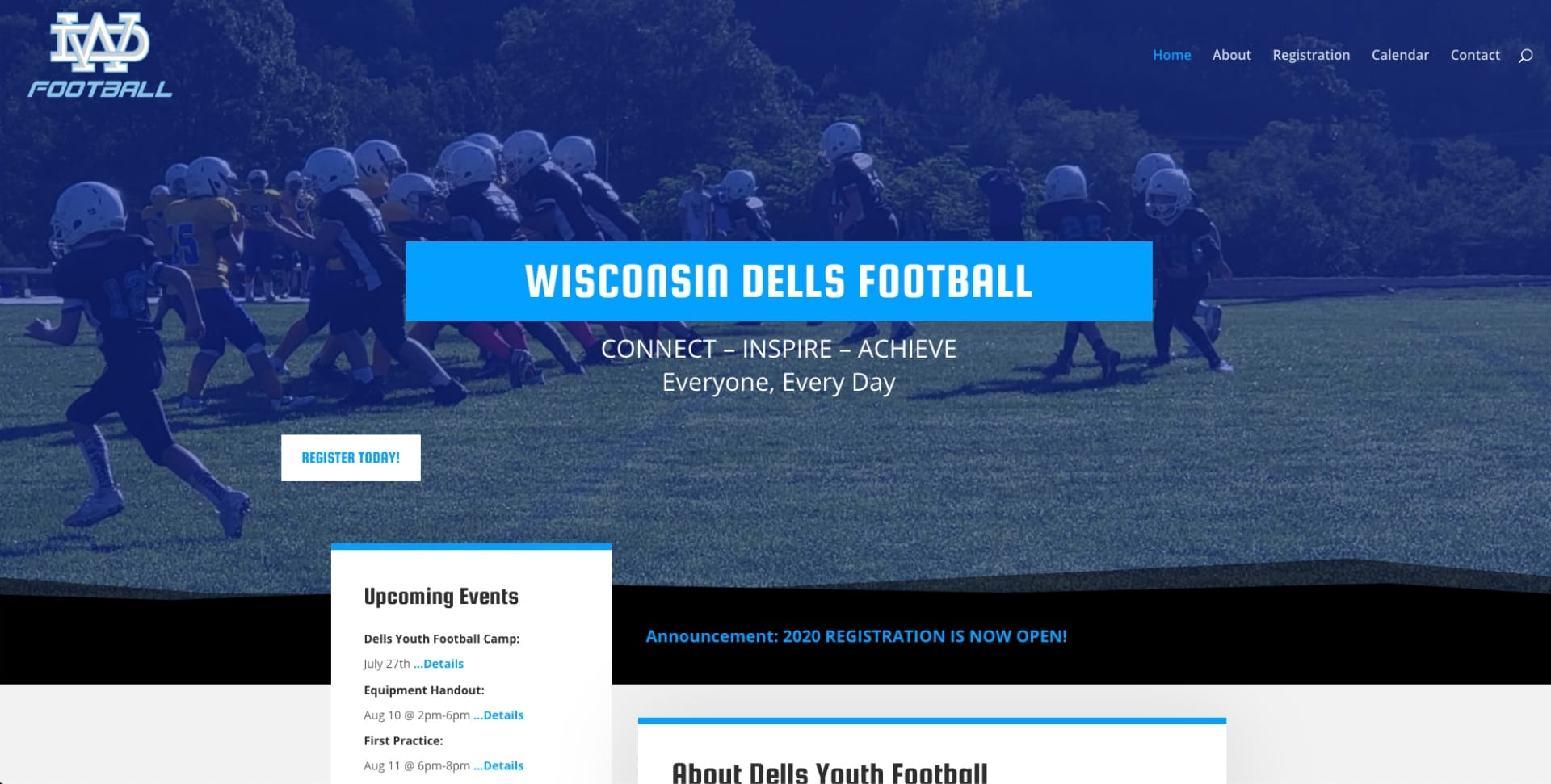 dell youth football website