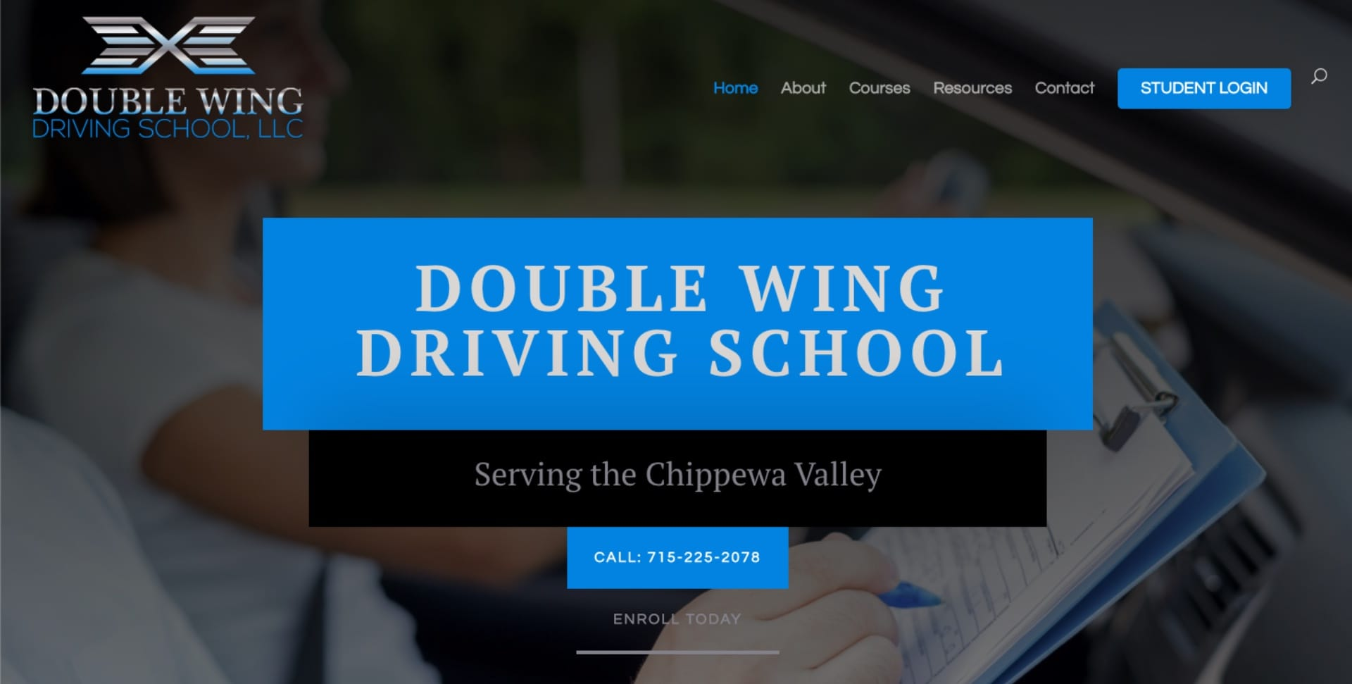 title-double-wing-driving-school-website